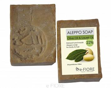 Mydło ALEPPO oliwkowo-laurowe 22% CERA MIESZANA –Fiore, 175g