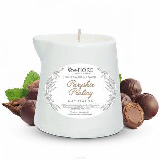 Naturalna Świeca do masażu PARYSKIE PRALINY –Fiore, 130ml –Fiore, 130ml