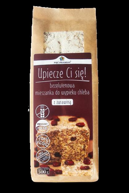Mieszanka chleba bezglutenowego z żurawiną –PięćPrzemian, 500g