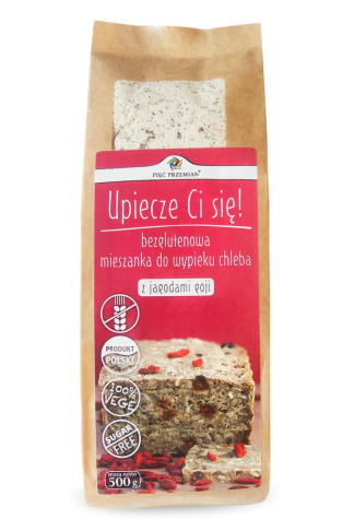 Mieszanka chleba bezglutenowego z goji –PięćPrzemian, 500g –PięćPrzemian, 500g
