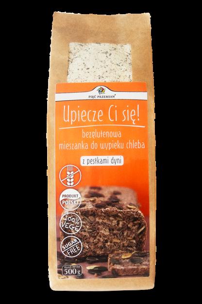 Mieszanka chleba bezglutenowego z pestkami dyni –PięćPrzemian, 500g