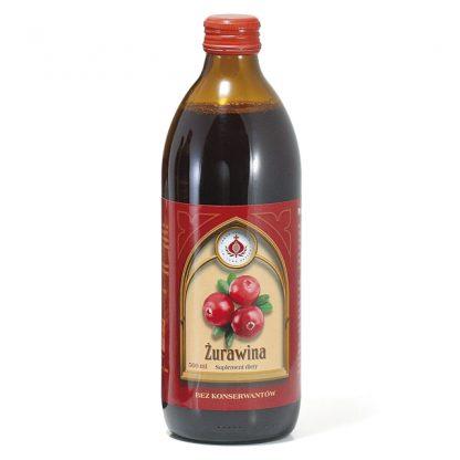 Żurawina sok –ProduktyBonifraterskie, 500ml