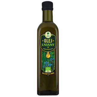 Olej lniany ekologiczny –DaryNatury, 250ml –DaryNatury, 250ml