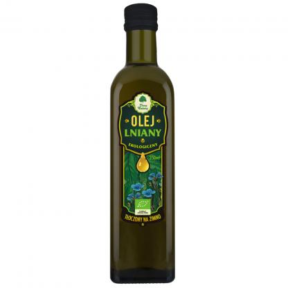 Olej lniany ekologiczny –DaryNatury, 250ml