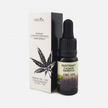 Olejek CBD 10% ekstrakt – India, 10 ml