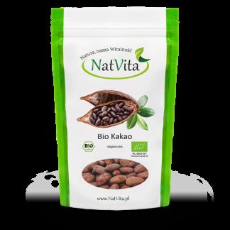 Kakao BIO Criollo ziarno –Natvita, 130g