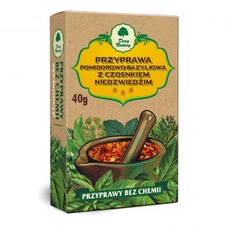 Przyprawa pomidorowo bazyliowa z czosnkiem niedźwiedzim –DaryNatury, 40g –DaryNatury, 40g