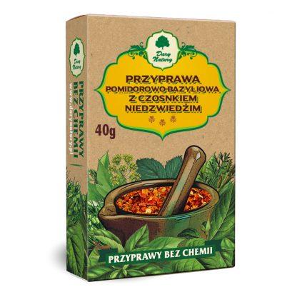 Przyprawa pomidorowo bazyliowa z czosnkiem niedźwiedzim –DaryNatury, 40g