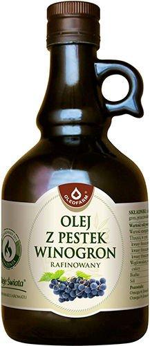Olej z pestek winogron rafinowany do smażenia –Oleofarm, 250ml