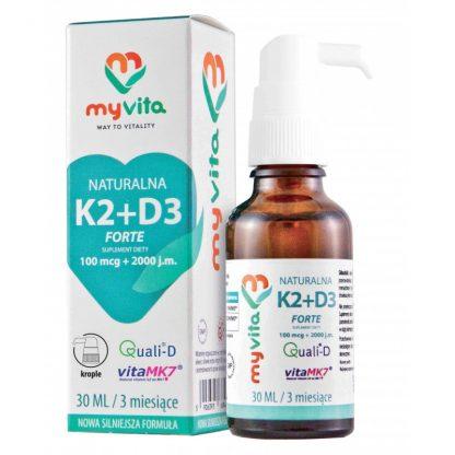 Witamina K2 +D3 w kroplach –MyVita, 30ml